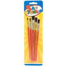 Art Paint Brushes, 5-ct. Packs