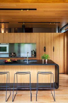 Dorrington Atcheson Architects have designed the renovation of a 1970′s split-level home in Auckland, New Zealand.