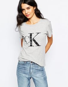 Calvin Klein Jeans Fitted 90S T-Shirt With Logo