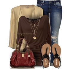 Black & Brown Casual by casuality on Polyvore featuring ATTIC AND BARN, Mavi, Aéropostale, Brahmin and Charlotte Russe