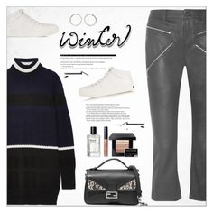 """""""Sweater Weather"""" by alves-nogueira ❤ liked on Polyvore featuring Jimmy Choo, Alexander Wang, Arche, Tim Coppens, Fendi, Bobbi Brown Cosmetics and Sophie Buhai"""