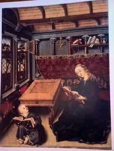 Unbekannter Meister, möglichrweise Basel, um 1450, Maria unterrichtet das Jesuskind