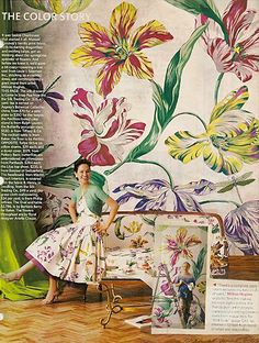 Eye For Design: Decorating With Today's Bold Floral Patterns