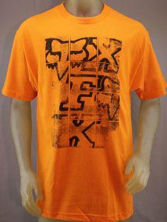 Fox Racing orange T-shirt with black logo print