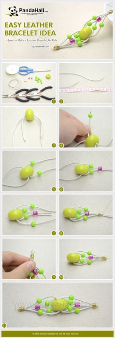 Easy Leather Bracelet Idea - How to Make a Beaded Leather Bracelet for Kids