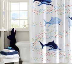 Shark Shower Curtain | Pottery Barn Kids For Zach's bathroom