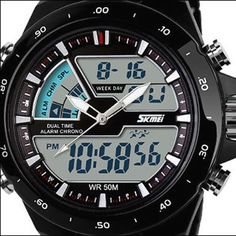 50M Waterproof Mens Sports Watches Relogio Masculino 2016 Hot Men Silicone Sport Watch Reloj S Shockproof Electronic Wristwatch Like and share!  #shop #beauty #Woman's fashion #Products #Watch