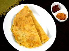 Instant Vegetable Dosa: Gram Flour - 1/2 cup  Rice flour - 1/2 cup  All purpose flour - 1/4 cup  Semolina - 2 tbsp  Baking soda - 1 tsp Vegetables - 1 grated carrot, onions Cumin Seeds - 1/2 tsp Salt - 1 tsp  Oil - 2 tsp