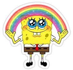 Spongebob stickers featuring millions of original designs created by independent artists. Stickers Cool, Meme Stickers, Tumblr Stickers, Phone Stickers, Printable Stickers, Spongebob Drawings, Kalender Design, Homemade Stickers, Snapchat Stickers