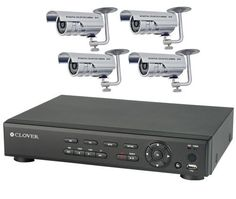 Clover 4 Channel DVR Bundle System with 500GB HDD and 4 Weather Resistant, Night Vision Cameras (BUN5770) by Clover. $599.99. From the Manufacturer                      This security system from Clover Electronics gives you the power to view your home or business remotely from anywhere in the world. The bundle includes a 4 channel DVR, 4 weather resistant/night vision cameras, and all the necessary accessories so you can start monitoring your property and/or business imm...
