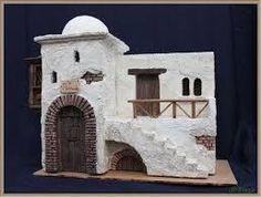 Mini Bible world Nativity House, Christmas Nativity Scene, A Christmas Story, Pottery Houses, Ceramic Houses, African House, Diy Crib, Fairy Garden Houses, Miniature Houses