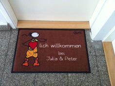 """Oups-Matte """"Herzlich Willkommen"""""""