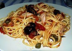 Esparguete com atum e azeitonas ~ Cozinha Divinal