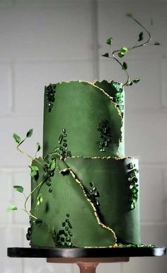 Obsessed With Everything About These Pretty Wedding Cakes Pretty Wedding Cakes, Wedding Cake Photos, Unique Wedding Cakes, Wedding Cake Designs, Pretty Cakes, Beautiful Cakes, Cake Wedding, Green Wedding Cakes, Wedding Themes