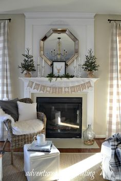 Adventures in Decorating: Our Winter Mantel