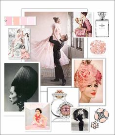 Diamonds & Tulle inspiration board -illustrator Megan Hess