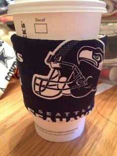 Seattle Seahawks Coffee Sleeve Cozie  NLF on Etsy, $3.50