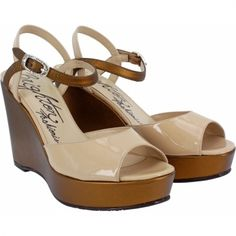 6819a3ee5d46c Flame Wedge Sandal available at  Brighton Metallic Wedges