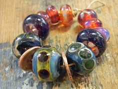 Lampwork Beads Borosilicate TAOS Two Sisters Designs 020515A by TwoSistersDesignss on Etsy