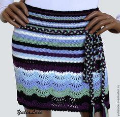 Купить или заказать Вязаная юбочка в интернет-магазине на Ярмарке Мастеров. Юбочка связана крючком из мягкой полушерстяной пряжи. В комплекте плетеный поясок. Размер 44, длина 37 см. Возможно выполнение в другом цвете и любого с…