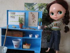 1/6 Scale Blythe Doll Garden Furniture Sindy Barbie by Nordcraft, $36.00