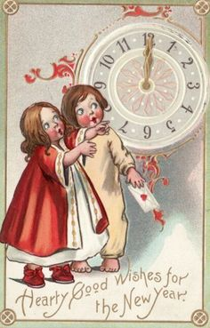 Vintage New Year's Images   Public Domain   Condition Free