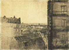Paris 1887 View from the Apartment in the Rue Lepic (Amsterdam, Van Gogh Museum)