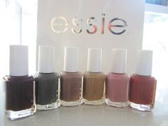 The new Essie colors for fall. ♥
