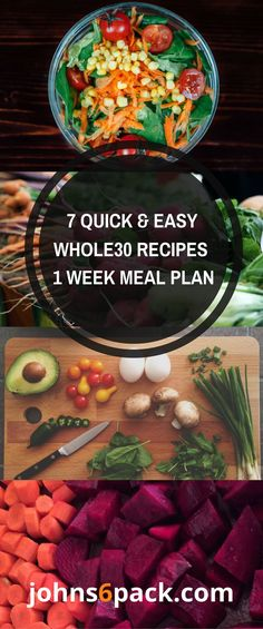 1 Week of Quick and Easy Whole30 Dinners