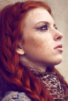 I want my future child to look like this. Freckled with Red Hair...so beautiful to me.