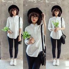Converse, Jeans, Hat #ootd coordinate style styling コーデ コーディネート コンバース キャンバス スニーカー ハイカット ローカット 白 ホワイト white 黒 ブラック black