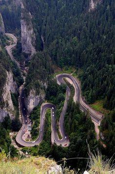 Bicaz Gorges - (Cheile Bicazului) - Hășmaș National Park - Romania www. Beautiful Places To Visit, Wonderful Places, Places To See, Visit Romania, Dangerous Roads, Romania Travel, Bucharest Romania, The Beautiful Country, Beach Trip