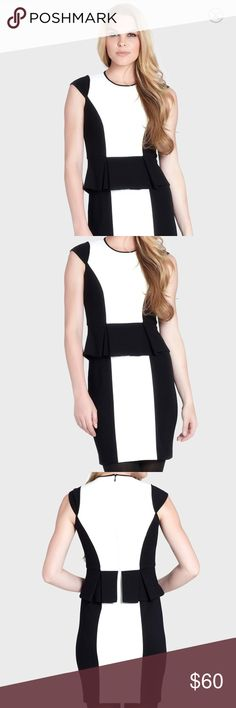 Cynthia Steffe Colorblock Peplum Sheath Dress This peplum dress is like-new and ultra flattering.  Important note: the cap sleeve has been removed! It is now sleeveless as pictured. Retails for $225. Cynthia Steffe Dresses