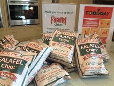 Falafel Chips at Food Day in West Los Angeles College #flamous #falafel #falafelchips #falafeland friends #snacks #health #food