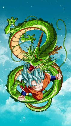 J Dragon, Dragon Ball Gt, Cool Dragon Pictures, Puff The Magic Dragon, Digital Foto, Goku Wallpaper, Dragon Ball Image, Kid Goku, Cool Dragons