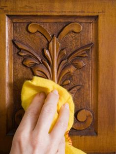 Polishing Wood Furniture Learn how to make your own natural furniture polish and get expert tips and techniques for cleaning wood. More in Decorating Cleaning Wood Furniture, Diy Furniture Polish, Furniture Cleaner, Homemade Furniture, Furniture Care, How To Clean Furniture, Wooden Furniture, Furniture Ideas, Office Furniture