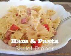 I came across this recipe when I was looking for ways to use up Easter ham and I was a little skeptical at first but it's now become one of my family's favorite recipes! It's so super simple to put together, you can make it in one pot and it's a light comfort food that now has me buying ham from the deli counter just to make this. #recipes #Easyrecipes #Ham