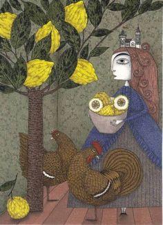 "Saatchi Art Artist Judith Clay; Drawing, ""The Lemon Picker"" #art"