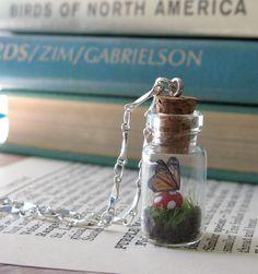 Teeny Tiny Butterfly Terrarium - what a cool idea! Sayila's contest # pinyourjewelry