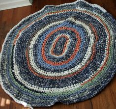 Crochet Rag Rugs Made By Rose Beerhorst. Each Rug Is Made Of 100% Recycled  Materials Like T Shirts And Colorful Cotton Sheets. | For The Home |  Pinterest ...