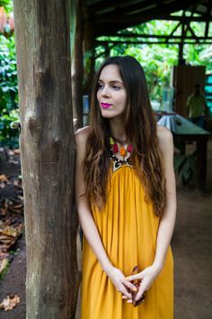 Yellow dress and pink lips in Costa Rica! | Vestito giallo e labbra rosa in Costa Rica!