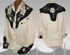 Rare & Unique Vintage Western Women's Cowgirl Shirt by