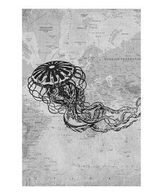 Another great find on #zulily! Jelly Fish Gallery-Wrapped Canvas #zulilyfinds