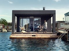 Laust Nørgaard has completed a floating home for his family in Copenhagen harbour