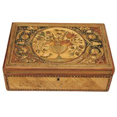 A Fine Straw Marquetry Box | From a unique collection of antique and modern boxes at http://www.1stdibs.com/furniture/more-furniture-collectibles/boxes/