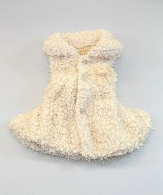 Take a look at this Beige Faux Fur Rose Fringe Vest - Toddler & Girls by Mia Belle Baby on #zulily today!