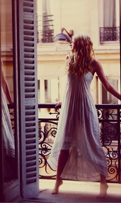 Beautiful. maybe a little too sheer for a balcony fashion show