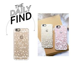 """""""Bring It Home: Let it Snow iPhone Case"""" by polyvore-editorial ❤ liked on Polyvore featuring Casetify and DailyFind"""