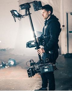 Check out this Arri Alexa with Steadicam! Photo by @steadibrooks by film.rev--keep in mind that some of these cameras can weigh up to 30 pounds and more!