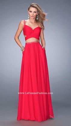 US$159.99 Wholesale 2016 A-line Red Chiffon Long Prom Dress /Evening Dress/ formal Dress La Femme 22718 from - US.homecomingnightgirl.com